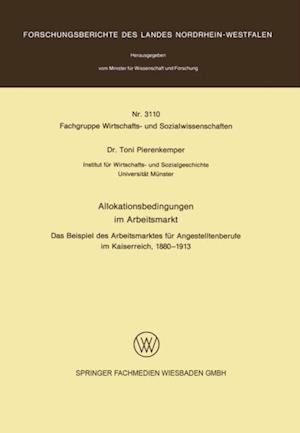 Allokationsbedingungen im Arbeitsmarkt af Toni Pierenkemper