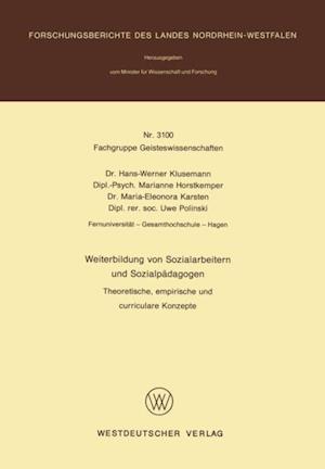 Weiterbildung von Sozialarbeitern und Sozialpadagogen af Hans-Werner Klusemann