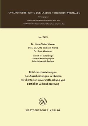 Koharenzbeziehungen bei Ausscheidungen in Oxiden mit dichtester Sauerstoffpackung und partieller Luckenbesetzung af Hans-Dieter Werner