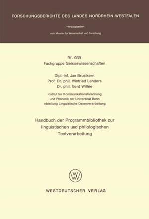Handbuch der Programmbibliothek zur linguistischen und philologischen Textverarbeitung af Jan Brustkern