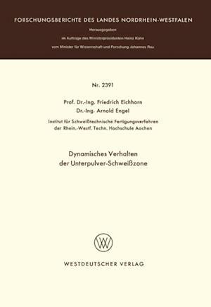 Dynamisches Verhalten der Unterpulver-Schweizone af Friedrich Eichhorn