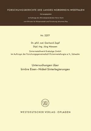Untersuchungen uber binare Eisen-Nickel-Sinterlegierungen af Gerhard Zapf