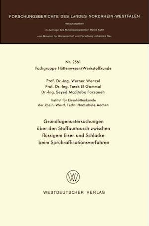 Grundlagenuntersuchungen uber den Stoffaustausch zwischen flussigem Eisen und Schlacke beim Spruhraffinationsverfahren af Werner Wenzel
