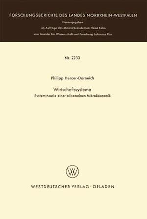 Wirtschaftssysteme af Philipp Herder-Dorneich
