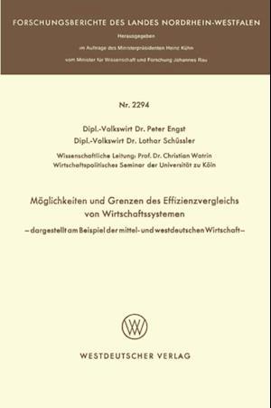 Moglichkeit und Grenzen des Effizienzvergleichs von Wirtschaftssystemen af Peter Engst