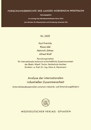 Analyse der internationalen industriellen Zusammenarbeit