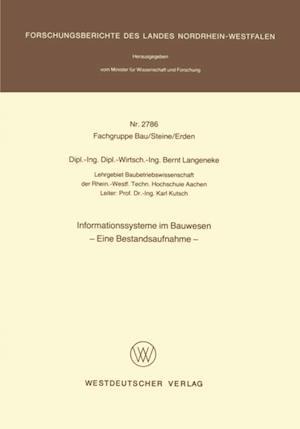 Informationssysteme im Bauwesen af Bernt Langeneke