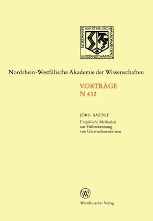 Empirische Methoden zur Fruherkennung von Unternehmenskrisen af Jorg Baetge