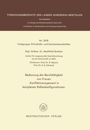 Bedeutung der Berufstatigkeit von Frauen af Mechthild Brothun