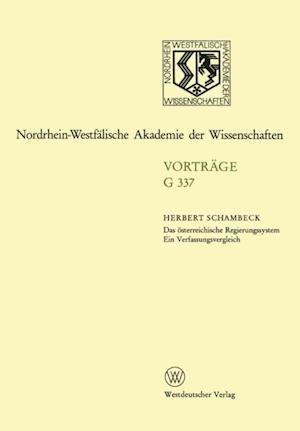 Das osterreichische Regierungssystem Ein Verfassungsvergleich