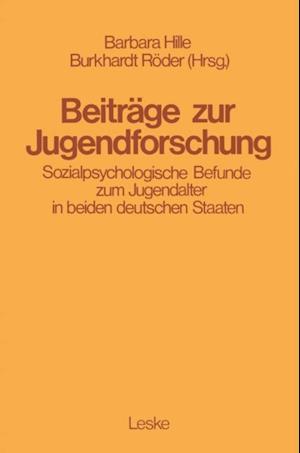 Beitrage zur Jugendforschung af Barbara Hille, Burkhard Roeder