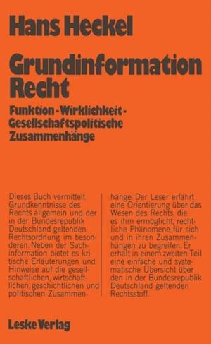 Grundinformation Recht af Hans Heckel