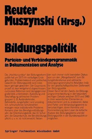 Bildungspolitik af Lutz-Rainer Reuter