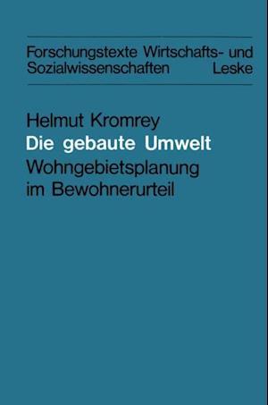 Die gebaute Umwelt af Helmut Kromrey