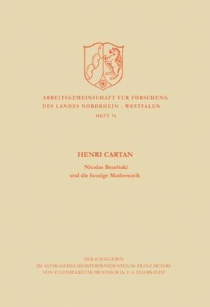 Nicolas Bourbaki und die heutige Mathematik af Henri Cartan
