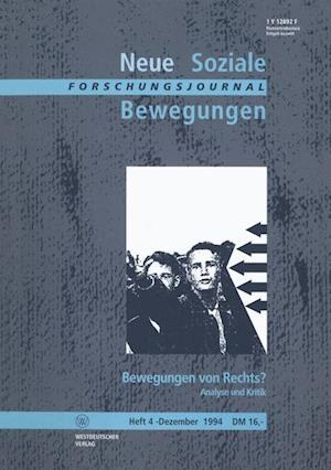 Forschungsjournal Neue Soziale Bewegungen af Thomas Leif, Ansgar Klein, Hans-Josef Legrand