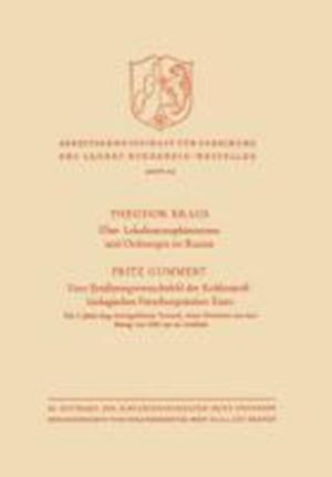 Uber Lokalisationsphanomene Und Ordnungen Im Raume / Vom Ernahrungsversuchsfeld Der Kohlenstoffbiologischen Forschungsstation Essen af Theodor Kraus