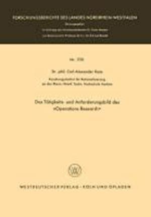 Das Tatigkeits- Und Anforderungsbild Des -Operations Research- af Carl Alexander Roos, Carl Alexander Roos