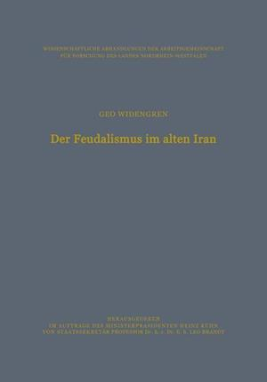 Der Feudalismus Im Alten Iran af Geo Widengren