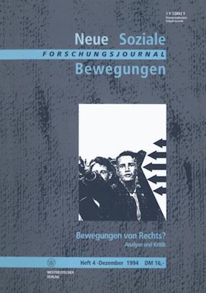 Forschungsjournal Neue Soziale Bewegungen af Ansgar Klein, Thomas Leif, Hans-Josef Legrand