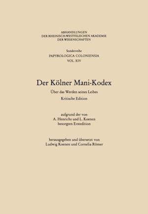 Der Kolner Mani-Kodex af Ludwig (Hrsg.) Koenen