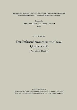 Der Psalmenkommentar von Tura af Aloys Kehl