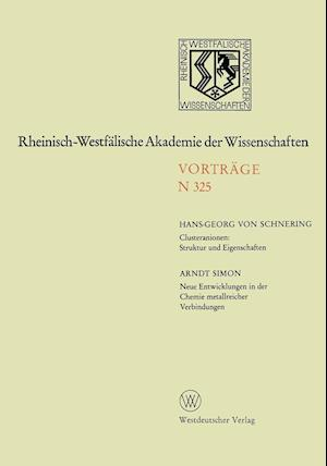 Clusteranionen af Arndt Simon, Hans-Georg Von Schnering