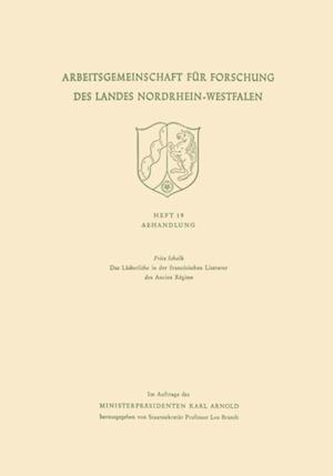 Das Lacherliche in der franzosischen Literatur des Ancien Regime af Fritz Schalk