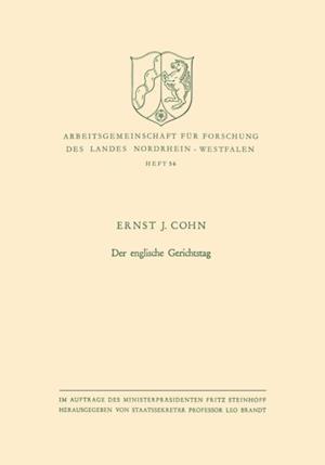 Der englische Gerichtstag af Ernst Joseph Cohn