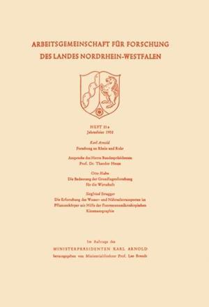 Die Bedeutung der Grundlagenforschung fur die Wirtschaft af Otto Hahn