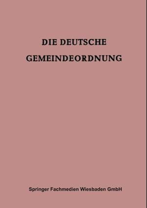 Die Deutsche Gemeindeordnung af British Zone) Germany (Territory under Allied occupation