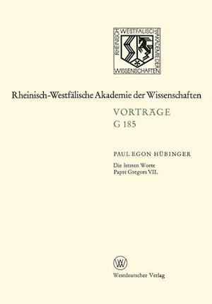 Die Letzten Worte Papst Gregors VII af Paul Egon Hubinger, Paul Egon Hubinger