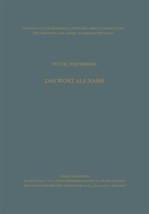 Das Wort als Name af Peter Hartmann