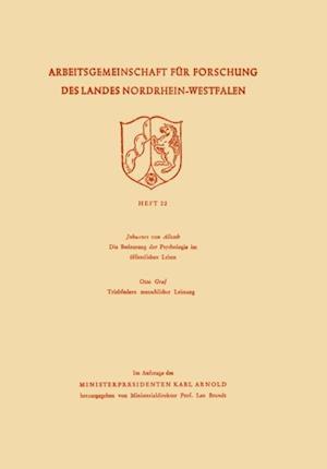 Arbeitsgemeinschaft fur Forschung des Landes Nordrhein-Westfalen af Gustav Johannes ˜vonœ Allesch