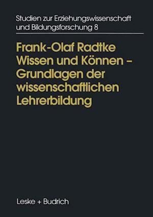 Wissen und Konnen af Frank-Olaf Radtke