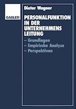 Personalfunktion in der Unternehmensleitung af Dieter Wagner