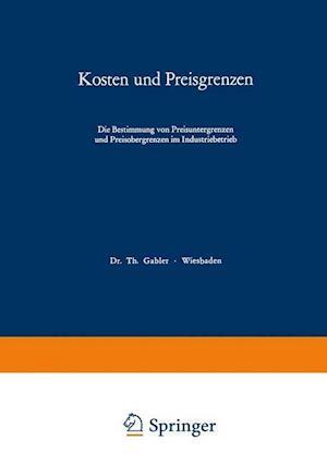 Kosten Und Preisgrenzen af Thomas Reichmann