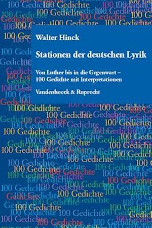 Stationen Der Deutschen Lyrik af Walter Hinck