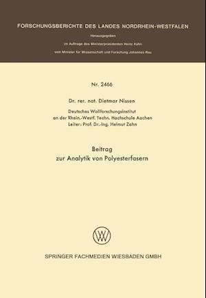 Beitrag Zur Analytik Von Polyesterfasern af Dietmar Nissen