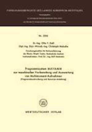 Programmsystem Mavamm Zur Maschinellen Vorbereitung Und Auswertung Von Multimoment-Aufnahmen af Otto F. Dall, Otto F. Dall
