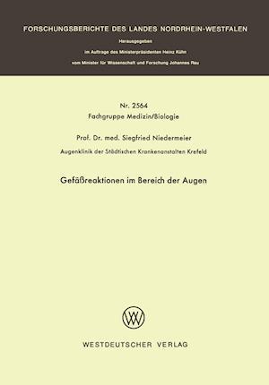 Gefassreaktionen Im Bereich Der Augen af Siegfried Niedermeier