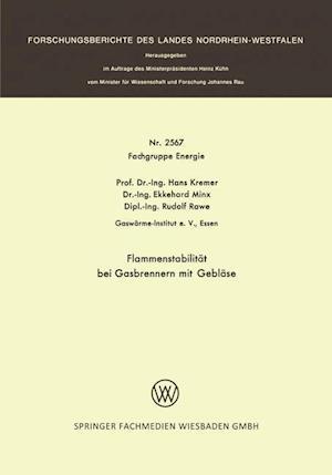 Flammenstabilitat Bei Gasbrennern Mit Geblase af Hans Kremer