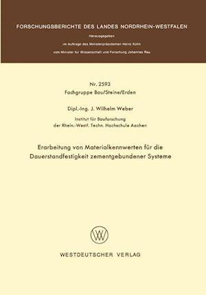 Erarbeitung Von Materialkennwerten Fur Die Dauerstandfestigkeit Zementgebundener Systeme af Johannes Wilhelm Weber, Johannes Wilhelm Weber