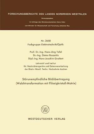 Storunempfindliche Bildubertragung af Hans Jorg Tafel, Hans Jorg Tafel