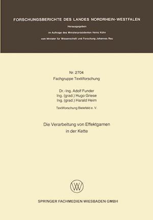 Die Verarbeitung Von Effektgarnen in Der Kette af Adolf Funder