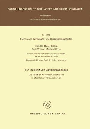Zur Inzidenz Von Landeshaushalten af Dieter Fricke