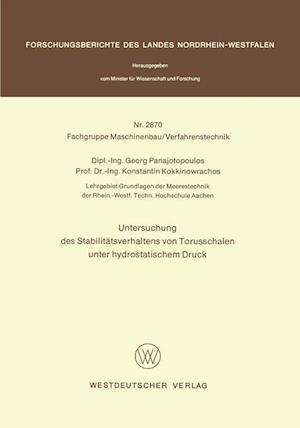 Untersuchung Des Stabilitatsverhaltens Von Torusschalen Unter Hydrostatischem Druck af Georg Panajotopoulos