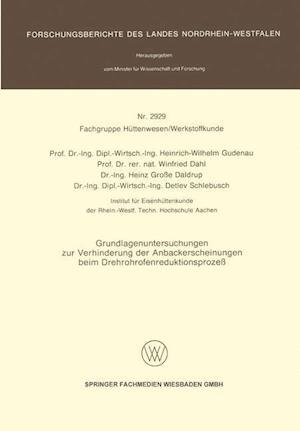 Grundlagenuntersuchungen Zur Verhinderung Der Anbackerscheinungen Beim Drehrohrofenreduktionsprozess af Heinrich-Wilhelm Gudenau, Winfried Dahl, Heinz Grosse Daldrup