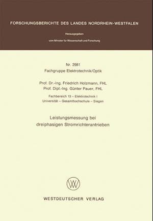 Leistungsmessung Bei Dreiphasigen Stromrichterantrieben af Friedrich Holzmann