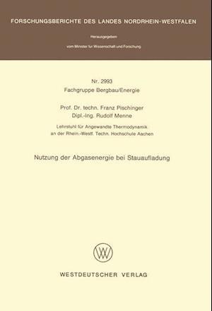 Nutzung Der Abgasenergie Bei Stauaufladung af Franz Pischinger